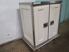 """""""Caddy Corp"""" H.D. Commercial S.S. Insulated 2 Compartments Food Delivery Cart"""