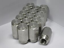 Sixteen (16) 1/2-20 Solid 304 Stainless Steel Lug Nuts trailer wheel