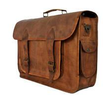 """16"""" Men's Genuine Brown Leather Messenger Shoulder Laptop,Office,Briefcase Bag"""