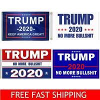 Donald Trump 2020 Flag No More BS 3x5 Feet MAGA Flag Banner BullShit Blue Flag