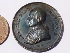 Antique 1888 Bianchi Silver LEO XIII Italy Pope Papal Vatican Medal #P53