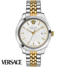 Versace VEV900419 Icon Classic weiss gold silber Edelstahl Herren Uhr NEU