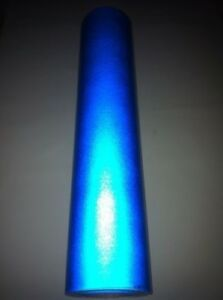 """12"""" x 48""""  BLUE  Reflective Vinyl Adhesive Cutter Sign Special Price"""
