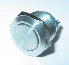 edelstahltaster,Pulsante campanello,19mm,1-polig,chiusura,testa piatta 250V /