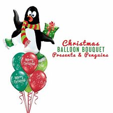 Party Supplies Christmas Penguins & Presents Foil Balloons Bouquet