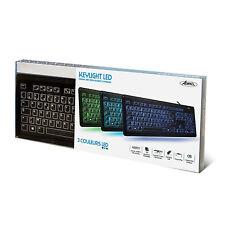 INGENIEUX / Clavier USB rétroéclairé led ADVANCE CLA-EL605 (3 couleurs au choix)
