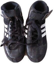Adidas HVC 1 Youth / JR Wrestling Shoes AQ3327 - Black / White size 1