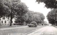 Washington Iowa~West Washington Boulevard Homes~1946 Real Photo Postcard~RPPC