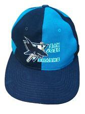 More details for vintage san jose sharks pinwheel snapback cap by starter 90s official nhl.
