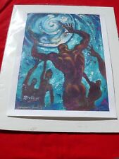 Limited Edition 8/50 Signed Print HOLD ON KATRINA (Hurricane) BLUES By SHAKOR