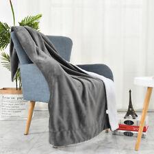 [Ultra-Warm] 100% Hypoallergenic Reversible Super Soft Fleece Sofa Throw Blanket
