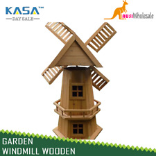 Outdoor Garden Windmill Wooden Decor Lawn Ornament Moving Blades Spinner Kasa 90