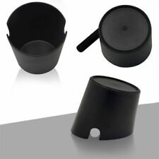 Coffee Knock Box with Handle Slag Bucket Espresso Grinds Tamper Waste Bin Black