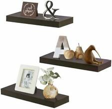 """Zgzd Floating Shelves For Wall, Easy To Install, Set Of 3, 5.9"""" Deep (Espresso B"""