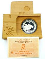 Spain 2000 Pesetas 1992 Silver Coin Proof Olympics in Barcelona - Sprint (T120)