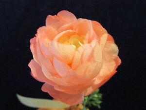 "Vintage Millinery Flower 2"" Pink w/Fluffy Silk Petals for Hat Bridal + Hair NV8"