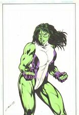 She-Hulk Color Commission - 2011 Signed art by Ric