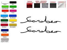 ADESIVI  SCRITTA SCARABEO GRANDE FIANCATA  (COPPIA)