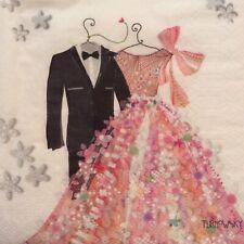 paper napkins decoupage x 2 wedding 25cm
