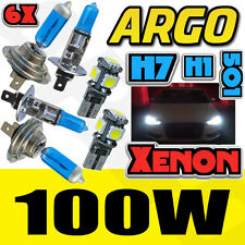 H7 T10 H1 100W SUPER WHITE XENON UPGRADE HEAD LIGHT BULBS SET MAIN DIP BEAM LED