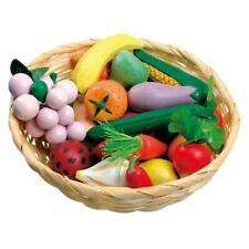 Bino - Obst und Gemüse im Korb für Kaufladen Holz, 24teilig