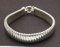 Flexible Tubogas Style  Bracelet with Senora Clasp Real 925 Sterling Silver