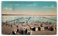 1914 Lake Calhoun Public Baths, Minneapolis, MN Postcard