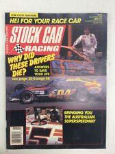 Stock Car Racing Magazine Vintage Nov 1987 Australian Superspeedway Articles