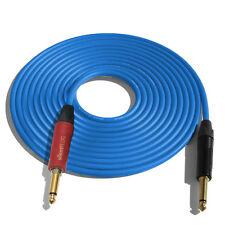 (ONE)10' Canare GS6 Guitar Cable w/Neutrik Silent Plug NP2X-AU ¼ - NP2X-B_BLUE
