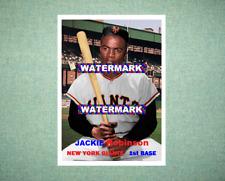 Jackie Robinson New York Giants 1957 Style Custom Baseball Art Card