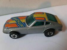 Vintage Hot Wheels Blackwall Datsun Z Whiz 1976 Gray Hong Kong die cast