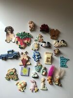Lot Of 25 Fridge Magnets Vintage ? Rare ? From Estate Sale *