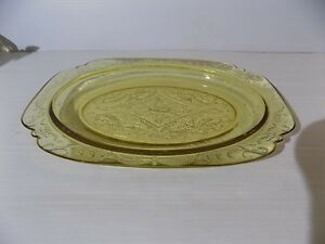 Vintage Yellow Depression Glass SERVING PLATTER