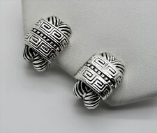 Chic Unique Classic Design Style Rhodium cable Omega Latch Fashion Earring 8-20