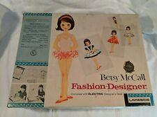 Vintage 1960's 1961 Betsy McCall Fashion Designer Set Electric Light Desk & More