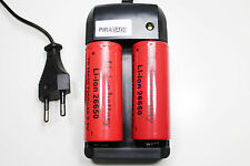 2 PILES RECHARGEABLE 7200mAh 26650 3.7V Li-ion BATTERIE BATTERY + CHARGEUR RS08