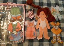 Rare Vtg Cabbage Patch Doll Masonite With Felt Clothes Set