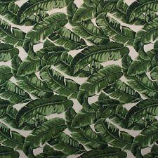 "BALLARD DESIGNS BISCAYNE GREEN SUNBRELLA LEAF OUTDOOR FURNITURE FABRIC BTY 54""W"