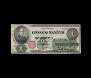 BEAUTIFUL 1862 $1 LEGAL TENDER ALMOST UNCIRCULATED CONDITION