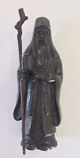SCARCE HTF ANTIQUE CHINESE EARLY 1900's SPELTER METAL IMMORTAL FIGURINE