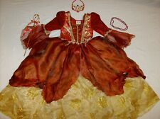Disney Exclusive Store Princess Red Belle Costume Dress Up XS 3 4 5