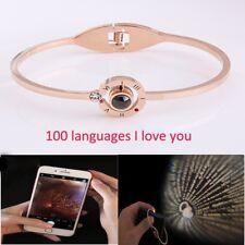 Subloom-100 Languages I Love You Memory Bracelet Women Girls Xmas Jewelry Gift