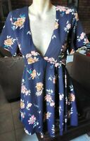 LUCK & TROUBLE CUTE JOSEPHINE FIT N FLARE DRESS IN NAVY SIZE 10. BNWT RRP $69.95
