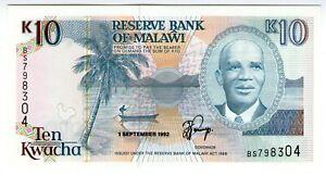 **   MALAWI    10  kwacha   1992   p-25b    UNC   **