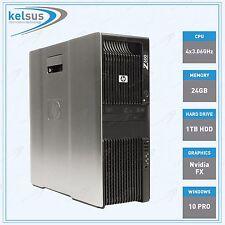 HP Z600 Professional Workstation PC Intel Xeon 24GB DDR3 CPU 1TB HDD Windows 10