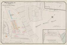 1913, CHARLES E. GOAD, MONTREAL, CANADA, MT. ROYAL PARK & WARD, COPY ATLAS MAP
