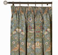 William morris strawberry thief ardoise paire rideaux doublés 190 cm x 137 cm