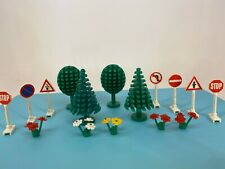 Vintage Lego - 1980s Legoland - Trees, Signs & Flowers - Lot #2
