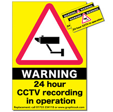 CCTV Stickers Pack of 3 Warning Stickers for Shops and Industrial Buildings