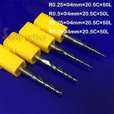 R0.25&0.5&0.75&1mm 2F HRC55 Tapered Ball Nose CNC Bit Taper End Mill cone cutter
